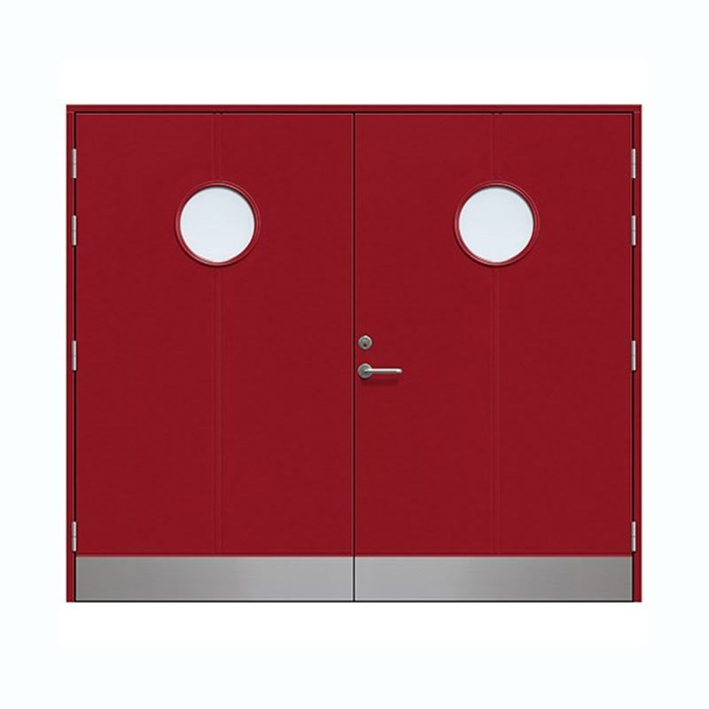 Farhult Autotallin ovi Vadelmanpunainen