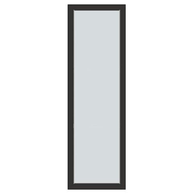 Kiinteä ovi Natur V alumiini Antrasiitti