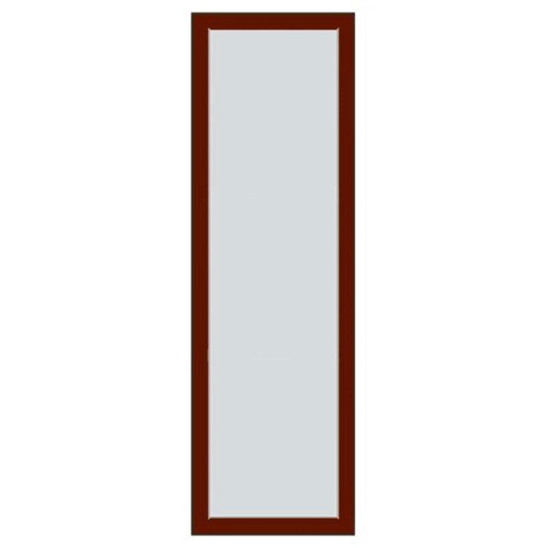 Kiinteä ovi Natur V alumiini Viininpunainen