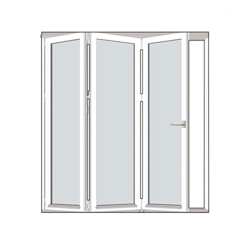 Taitettava ovi Talvi Puu Valkoinen