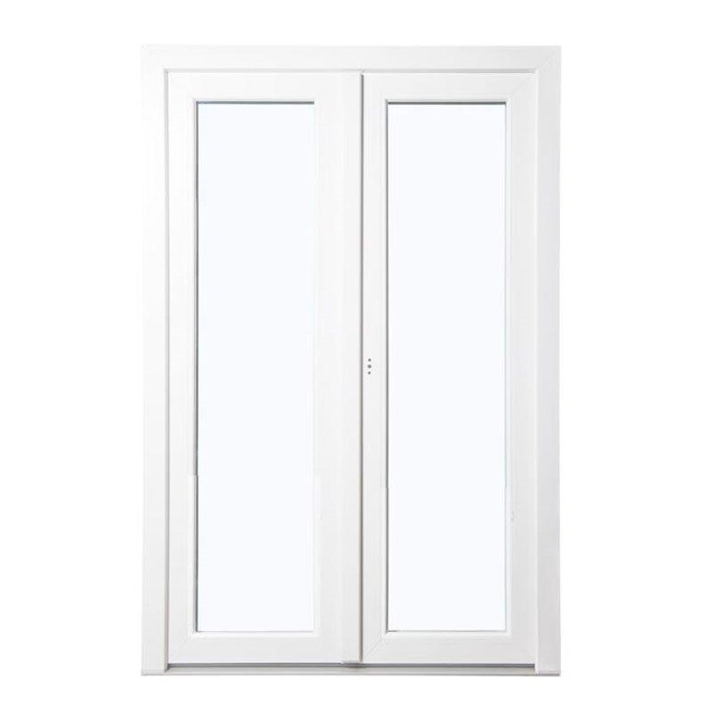 Terassiovi pariovi PVC Valkoinen