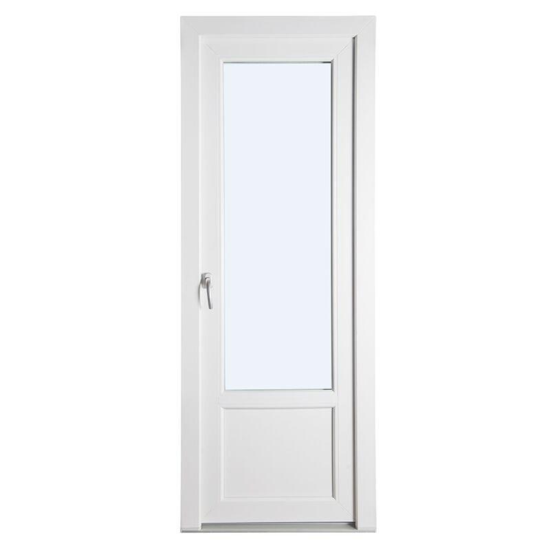 Terassiovi yksink. PVC Valkoinen
